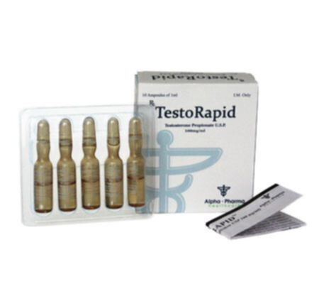 Order TestoRapid amp. (Test Propionate) by Alpha-Pharma Healthcare with Australia courier delivery